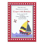 Sailing Sailboat Boat Nautical 5x7 Birthday Custom Invitations