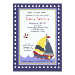 Sailing Sailboat Boat Nautical Baby Shower 5x7 Custom Invite