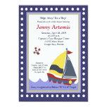 Sailing Sailboat Boat Nautical Baby Shower 5x7 Custom Announcement