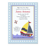 Sailing Sailboat Boat Nautical Baby Shower 5x7 Invite