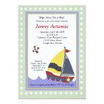 Sailing Sailboat Boat Nautical Baby Shower 5x7 Invites