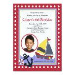 Sailing Sailboat Boat PHOTO Nautical 5x7 Birthday Personalized Invites