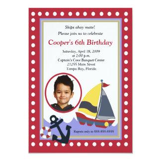 Sailing Sailboat Boat PHOTO Nautical 5x7 Birthday 5x7 Paper Invitation Card