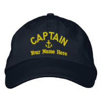 Sailing sailboat captains embroidered baseball hat