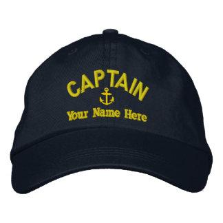 Sailing sailboat captains embroidered baseball hat