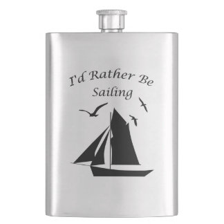 Sailing Sailboat Classic Flask