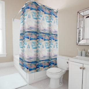 Sailing Sailboat Dreams Sail Bathroom CricketDiane Shower Curtain