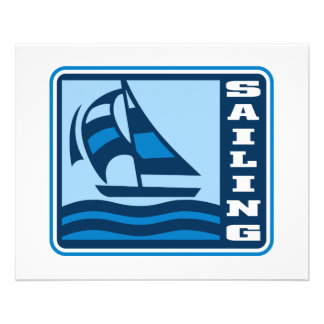 "sailing sailboat logo graphic 4.5"" x 5.6"" flyer"