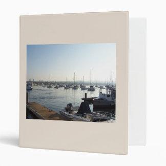 Sailing Sailboats Ocean Harbor Boats California 3 Ring Binder