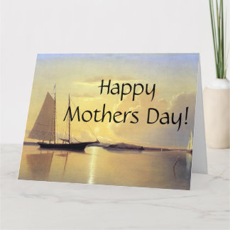 Sailing Sailboats Sunrise Ocean Mothers' Day Card