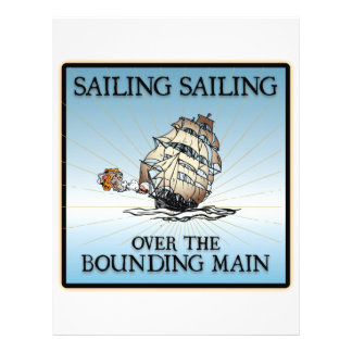 Sailing, Sailing - Over The Bounding Main Letterhead