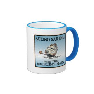 Sailing, Sailing - Over The Bounding Main Ringer Mug