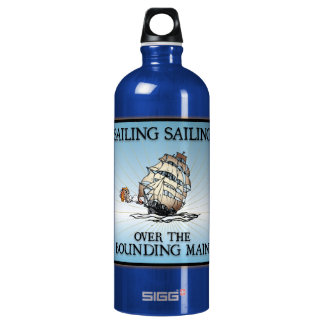 Sailing, Sailing - Over The Bounding Main Water Bottle