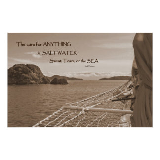 Sailing Salt Water Cure Poster