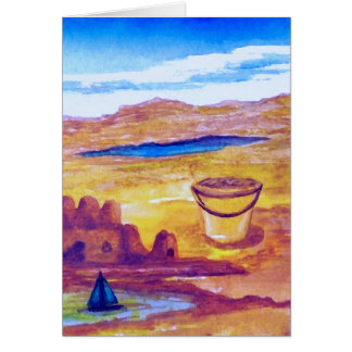 Sailing Sand Castle Moat CricketDiane Greeting Card