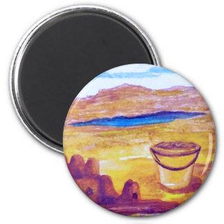 Sailing Sand Castle Moat CricketDiane Magnet