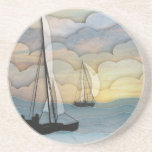 Sailing Sandstone Coaster