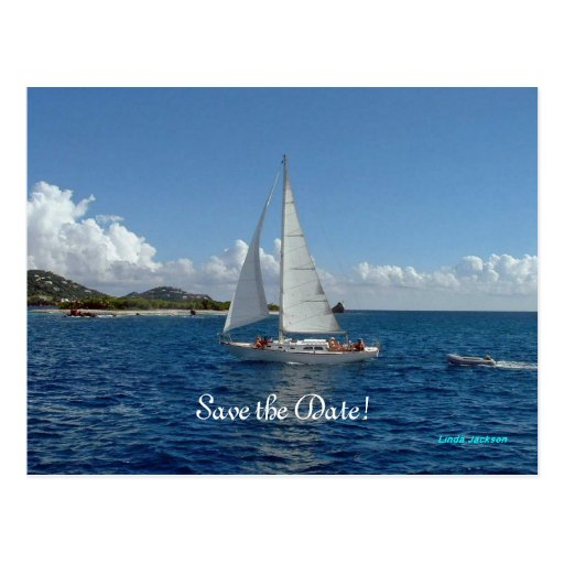 Sailing, save the date!  Wedding products Post Card
