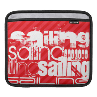 Sailing; Scarlet Red Stripes Sleeve For iPads