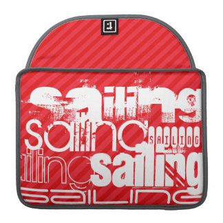 Sailing; Scarlet Red Stripes Sleeve For MacBooks