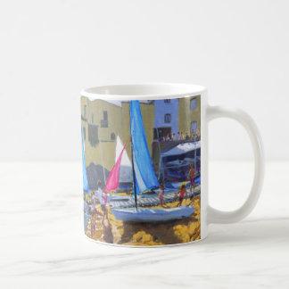 sailing school calella de palafrugall costa coffee mug