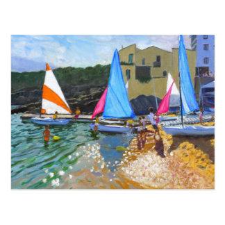 sailing school calella de palafrugall costa postcard