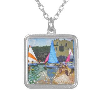 sailing school calella de palafrugall costa silver plated necklace