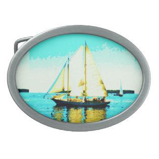 sailing schooner belt buckle
