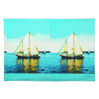 sailing schooners placemat Thunder_Cove