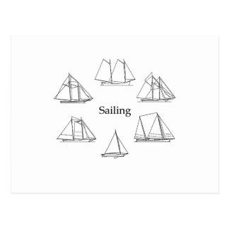 Sailing - Schooners Postcard