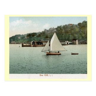 Sailing, Sea Cliff, Long Island, NY 1907 Vintage Postcard