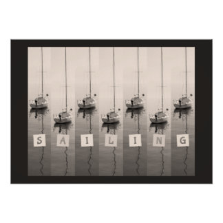 Sailing Sepia Seas Poster