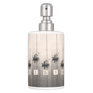 Sailing Sepia Seas Soap Dispenser & Toothbrush Holder