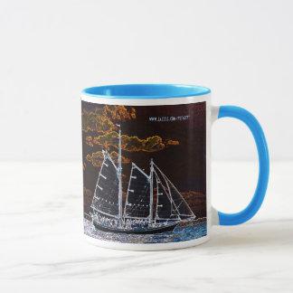Sailing ship abstract photography mug design
