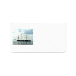 Sailing Ship Address Label