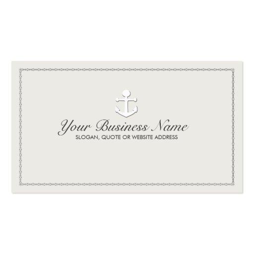 Sailing ship anchor nautical business card zazzle for Nautical business cards