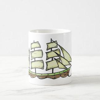 Sailing Ship (Brig Silhouette) Coffee Mug