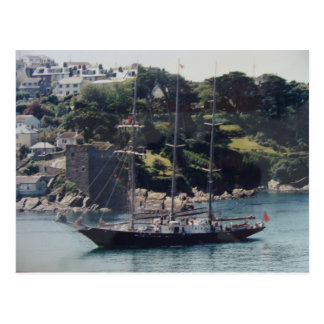 Sailing Ship coming into Harbour Postcard