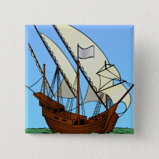 Sailing Ship in Pirate Waters Button