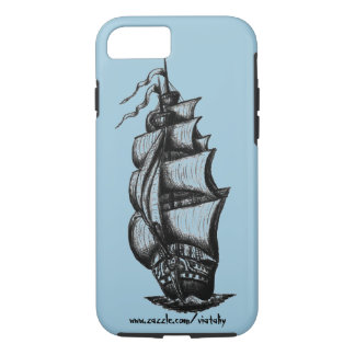 Sailing ship ink pen drawing art iPhone 7 case