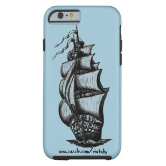 Sailing ship ink pen drawing art tough iPhone 6 case