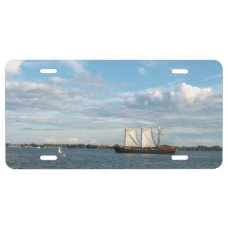 Sailing Ship License Plate