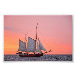 Sailing ship on the Hanse Sail in Rostock Photo Print