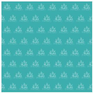 Sailing Ship Pattern, Teal Color. Statuette
