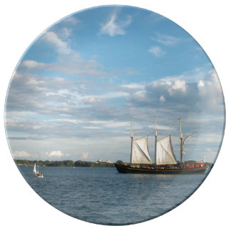 Sailing Ship Porcelain Plate