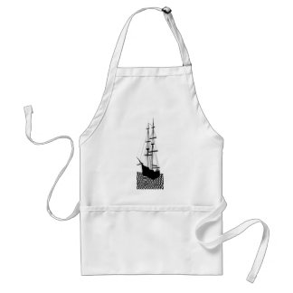 Sailing Ship Sailboat Galley Nautical CricketDiane Adult Apron