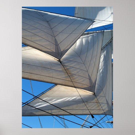Sailing Ship Sails Canvas Print