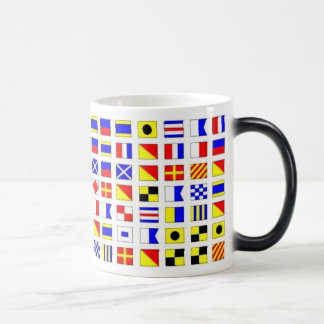 SAILING SHIP SIGNAL FLAGS MUG