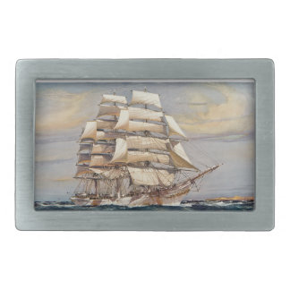 Sailing ship Thomas Stephens Belt Buckle