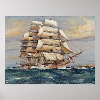 Sailing Ship Thomas Stephens Poster